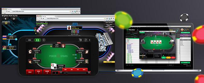 Софт для ПК, мобильных и браузера для игры в покер на деньги.